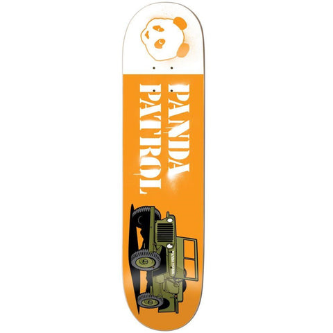 "Enjoi Panda Patrol R7 Skateboard Deck 8.375"" - Orange"