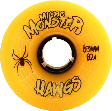 Hawgs Wheels Micro Monster 63mm 82a - Yellow (Set of 4)