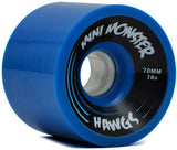 Landyachtz Longboard Wheels Mini Monster Hawgs 70mm 78a (Set of 4) -blue