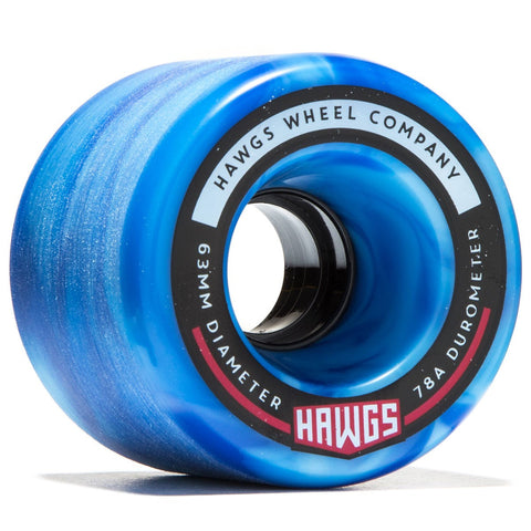 Fatty Hawgs Wheel 63mm 78a - Sky Blue Swirl (Set of 4)