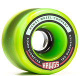 Fatty Hawgs Wheel 63mm 78a - Green/Yellow Swirl (Set of 4)