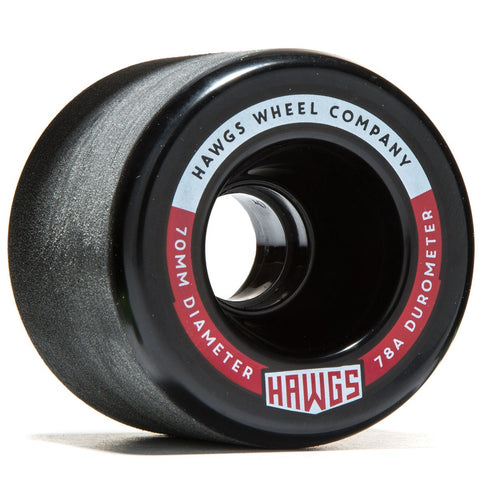 Hawgs Fatty Wheels 70mm 78a - Black (Set of 4)