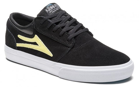 Lakai Shoes Krooked Griffin - Black/Yellow Suede