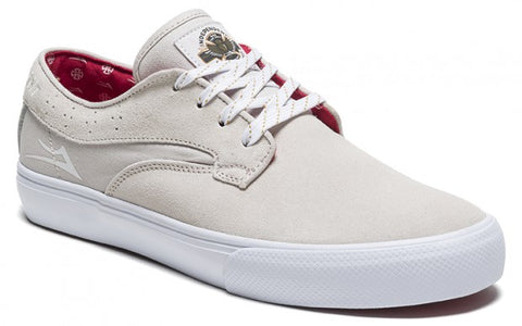 Lakai Shoes Riley Hawk x Indy Collab - White Suede