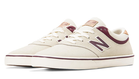 New Balance Shoes Numeric Quincy 254 - Stone Grey/Burgundy