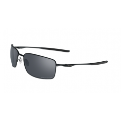 Oakley Sunglasses Square Wire - Matte Black/Black Iridium Polarized