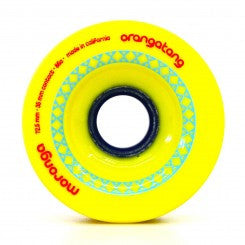 Orangatang Moronga 72.5mm 86a yellow Longboard Wheels (Set of 4)