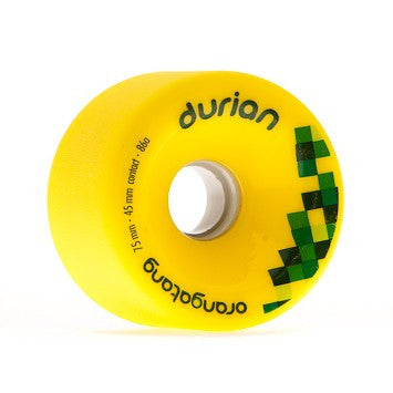 Orangatang Durian 75mm 86a yellow Longboard Wheels (Set of 4)