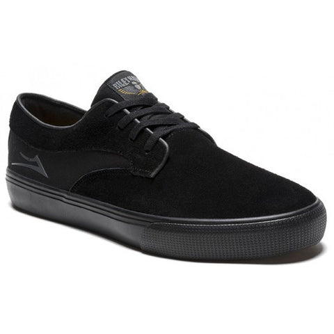 Lakai Shoes Riley Hawk - Black/ Black/ Suede