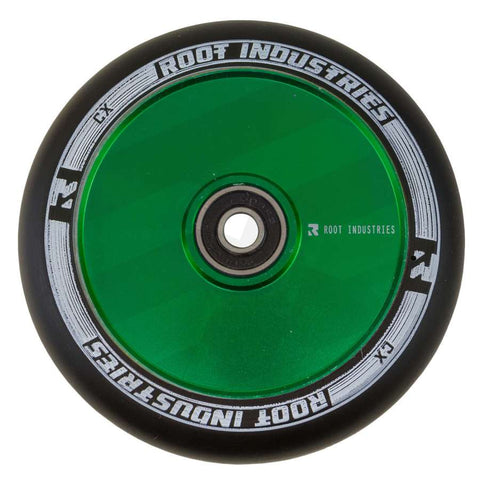 Root Industries 110mm AIR Wheels - Black/Green (Pair)