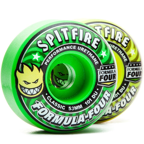 Spitfire Wheels F4 Classic Cool Aid Mash 53mm 101a - Yellow/Green (Set of 4)