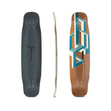 Loaded Basalt Tesseract Bamboo Longboard Deck - Dark Blue