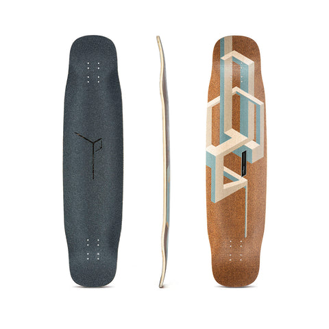 Loaded Basalt Tesseract Bamboo Longboard Deck - Nude
