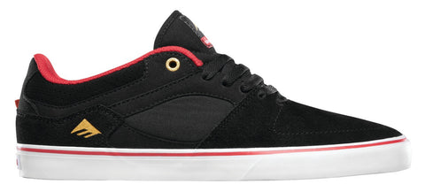 Emerica Shoes The Hsu Low Vulc X Chocolate - Black/Red/White