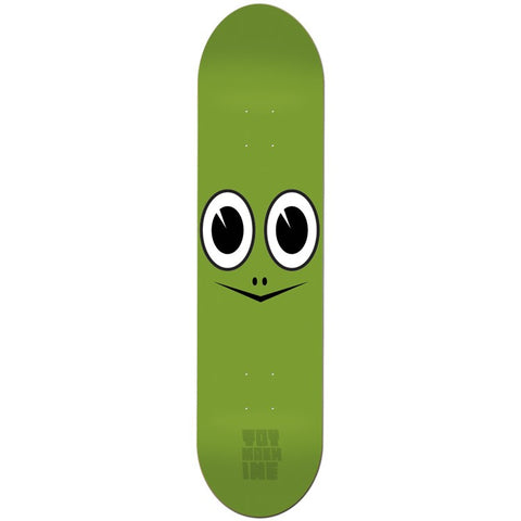"Toy Machine Turtle Face Skateboard Deck - 7.75"" Green"