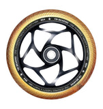Envy Tri Bearing Scooter Wheels 120mm x 30mm - Black/Gold (Pair)
