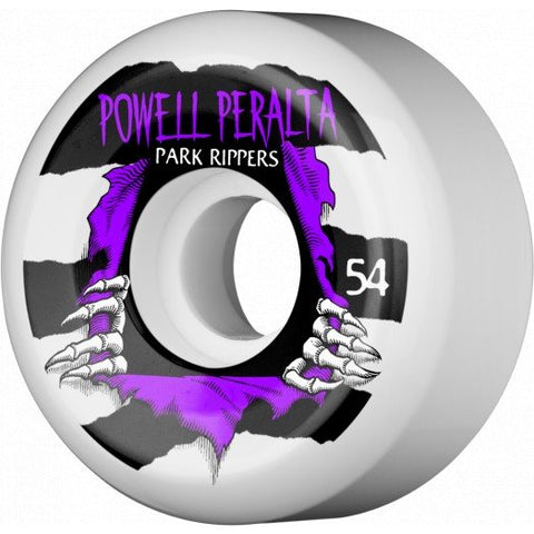 Powell Peralta Wheels Ripper 54mm 104a - White (Set of 4)