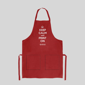 Printer's Apron from Howard Iron Works Museum Collection - Red