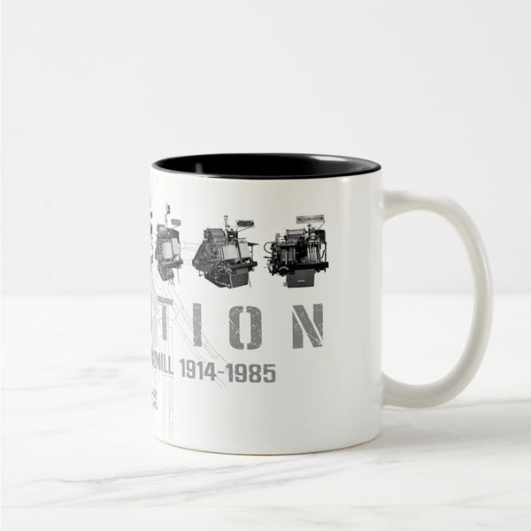 Evolution - Howard Iron Works Printing Museum, 11oz Ceramic Coffee Mug