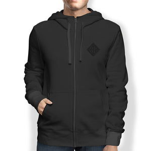 Men's Hoodie, Full Zip, Black - from Howard Iron Works Printing Museum