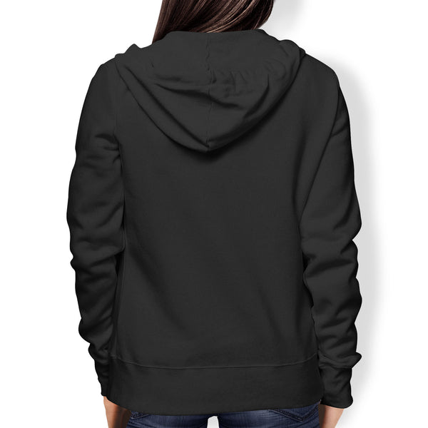 Ladies Hoodie, Full Zip, Black - from Howard Iron Works Printing Museum