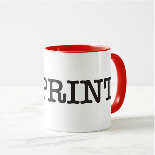 I Love Print - Coffee Mug White/Red - from Howard Iron Works Printing Museum