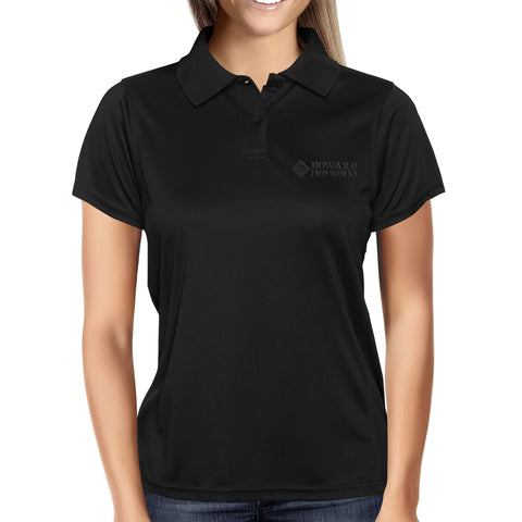 Ladies Polo Shirt, Short Sleeve, Black - from Howard Iron Works Printing Museum