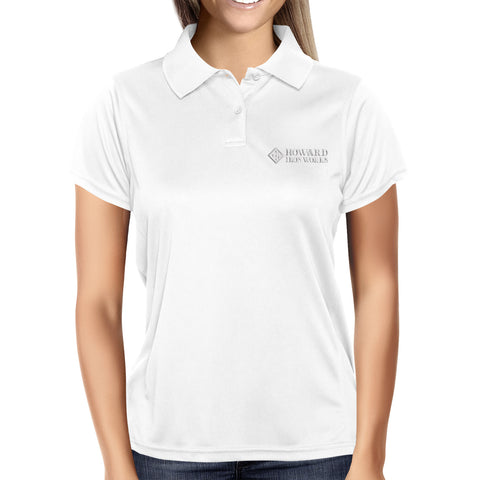 Ladies Polo Shirt, Short Sleeve, White - from Howard Iron Works Printing Museum