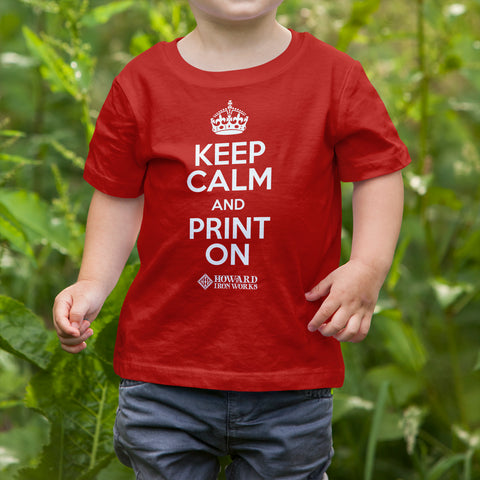 Toddler T-shirt, Keep Calm, Red - from Howard Iron Works Printing Museum