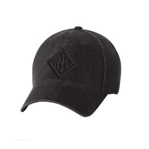 Howard Iron Works Printing Museum, Baseball Cap, Black, Garment Washed, Vintage Look, Embroidered Logo