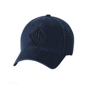Howard Iron Works Printing Museum, Baseball Cap, Navy, Garment Washed, Vintage Look, Embroidered Logo