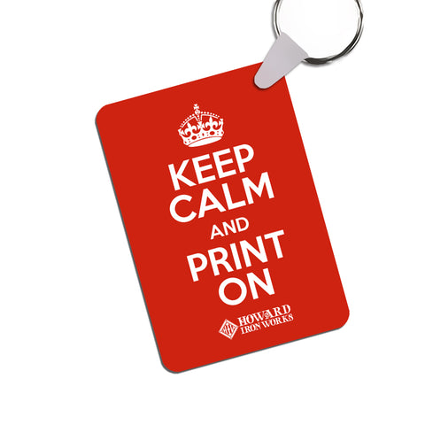 Keychain - Keep Calm - red - from Howard Iron Works Printing Museum