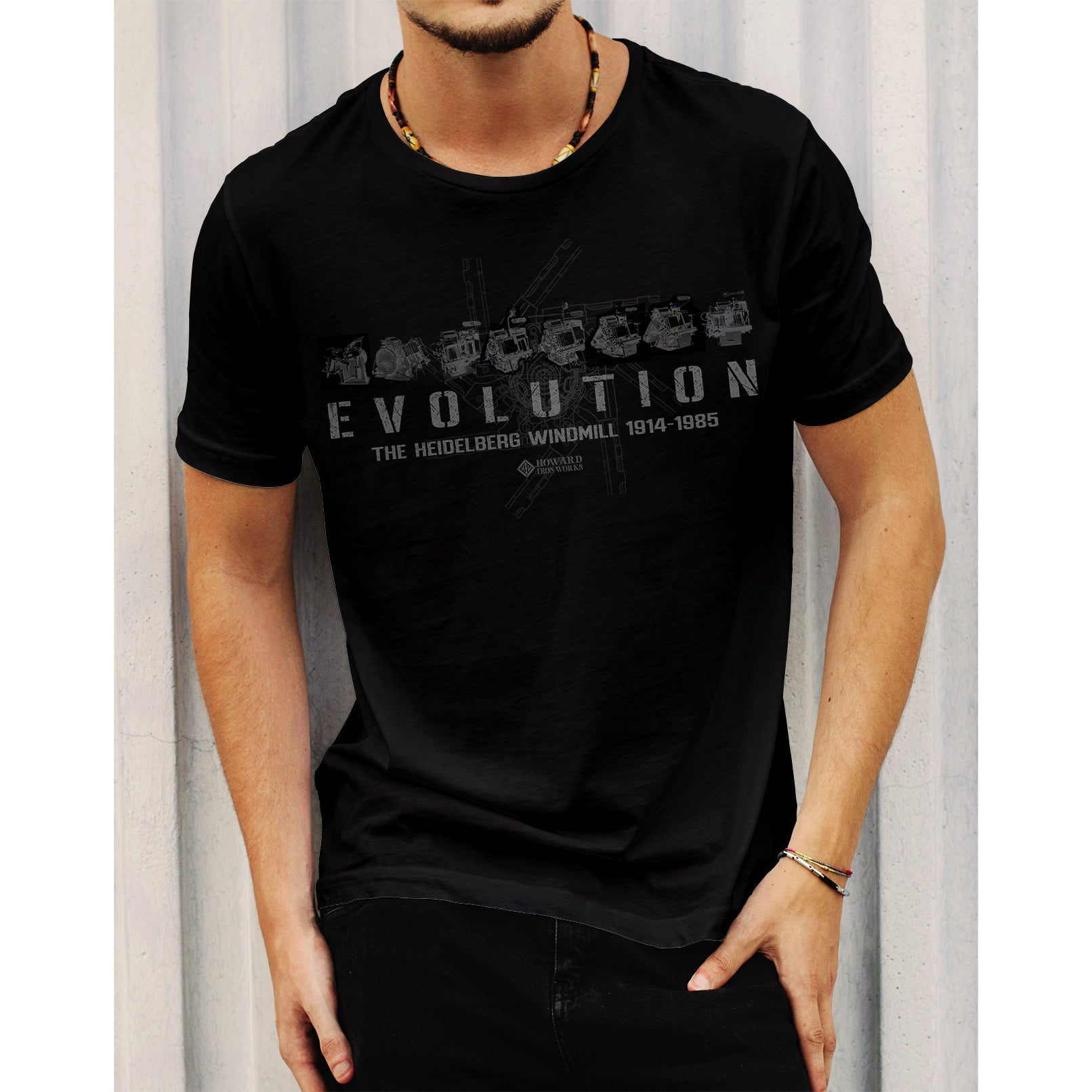 T-Shirt Short Sleeve Evolution Men's - Black
