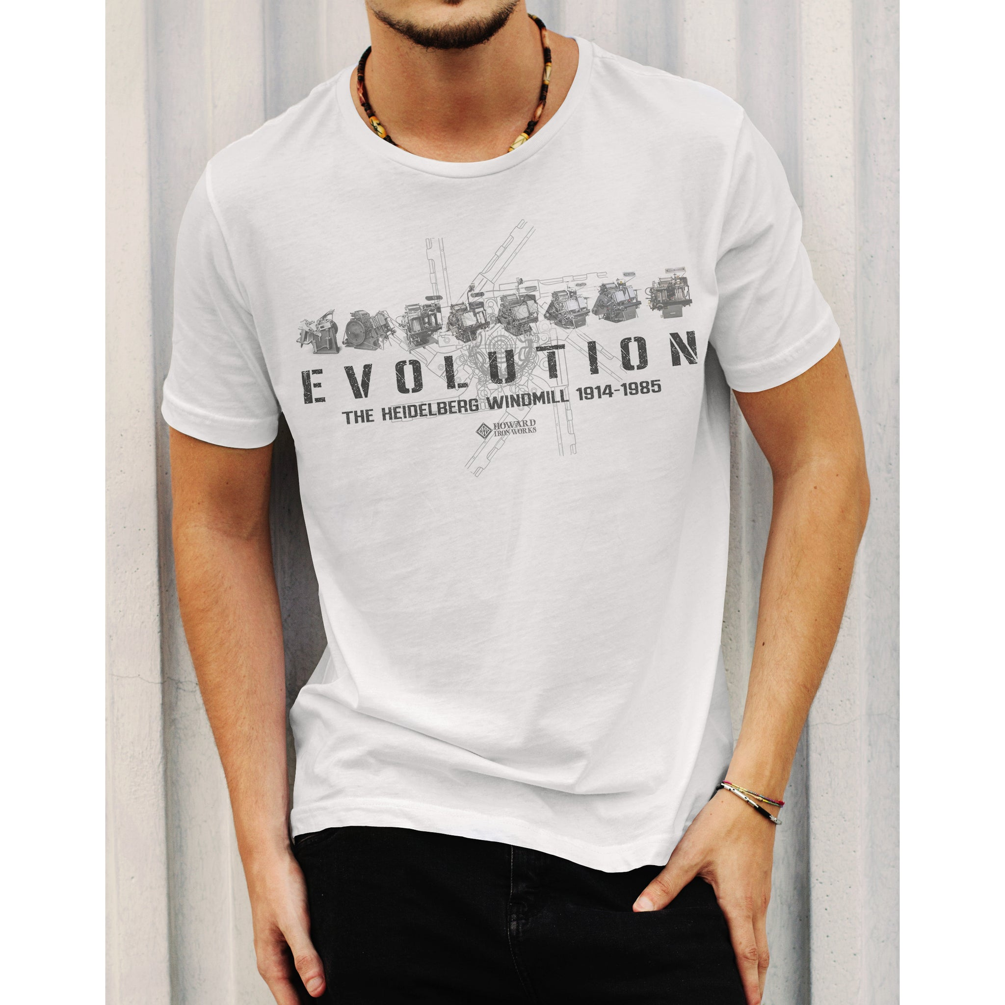 T-Shirt Short Sleeve Evolution Men's - White