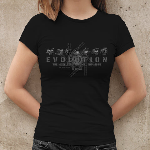 Ladies T-shirt, Short Sleeve, Black - from Howard Iron Works Printing Museum