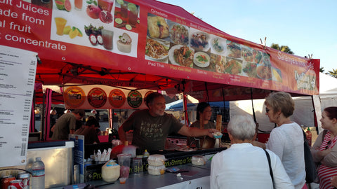 Thai Chef Saranya stall at the markets