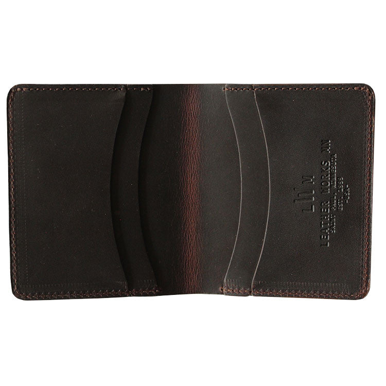 Leather Works Minnesota - Capital Wallet - Mahogany