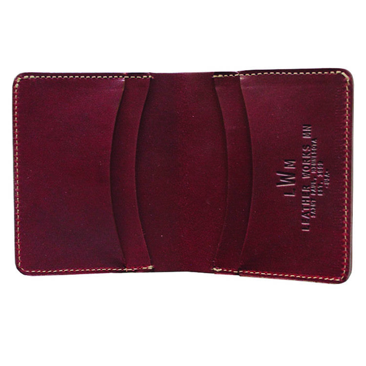 Leather Works Minnesota - Capital Wallet - Oxblood
