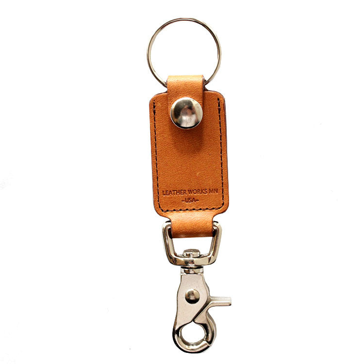 Leather Works Minnesota - Rein Clip Key Ring - Tan