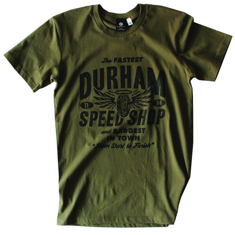 Durham Speed Shop Tee - Army