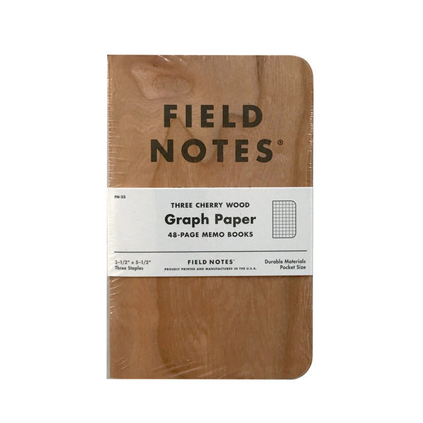 Field Notes Cherry Wood 3-Pack