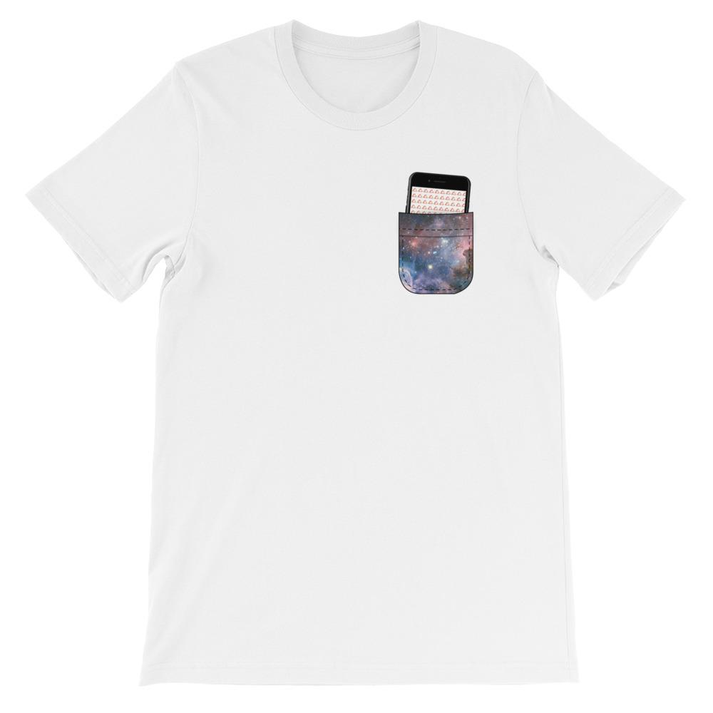 Devslopes Pocket Universe T-Shirt (Jet Black Device) - Coder Swag