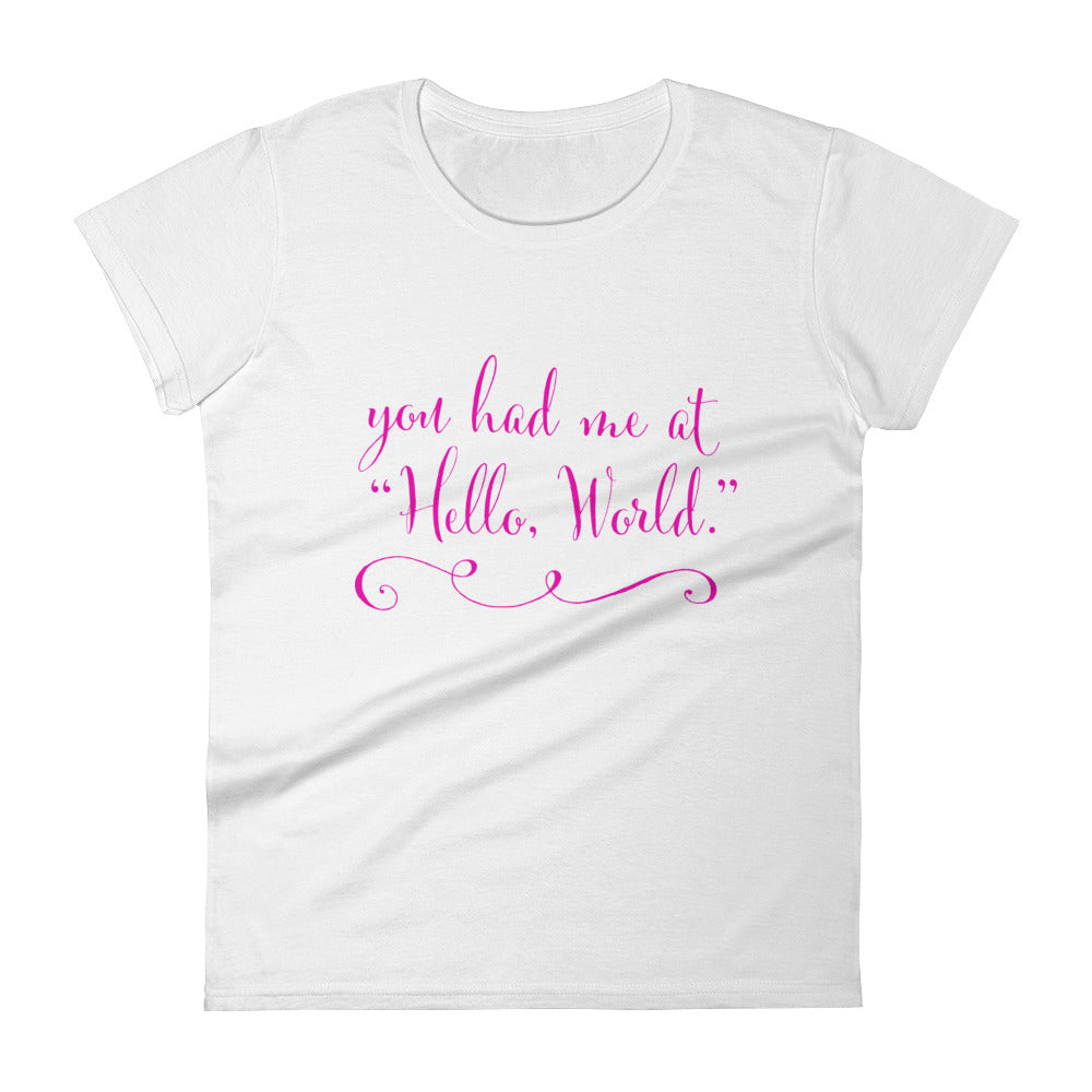 Womens Code Romantic T-Shirtt - Coder Swag