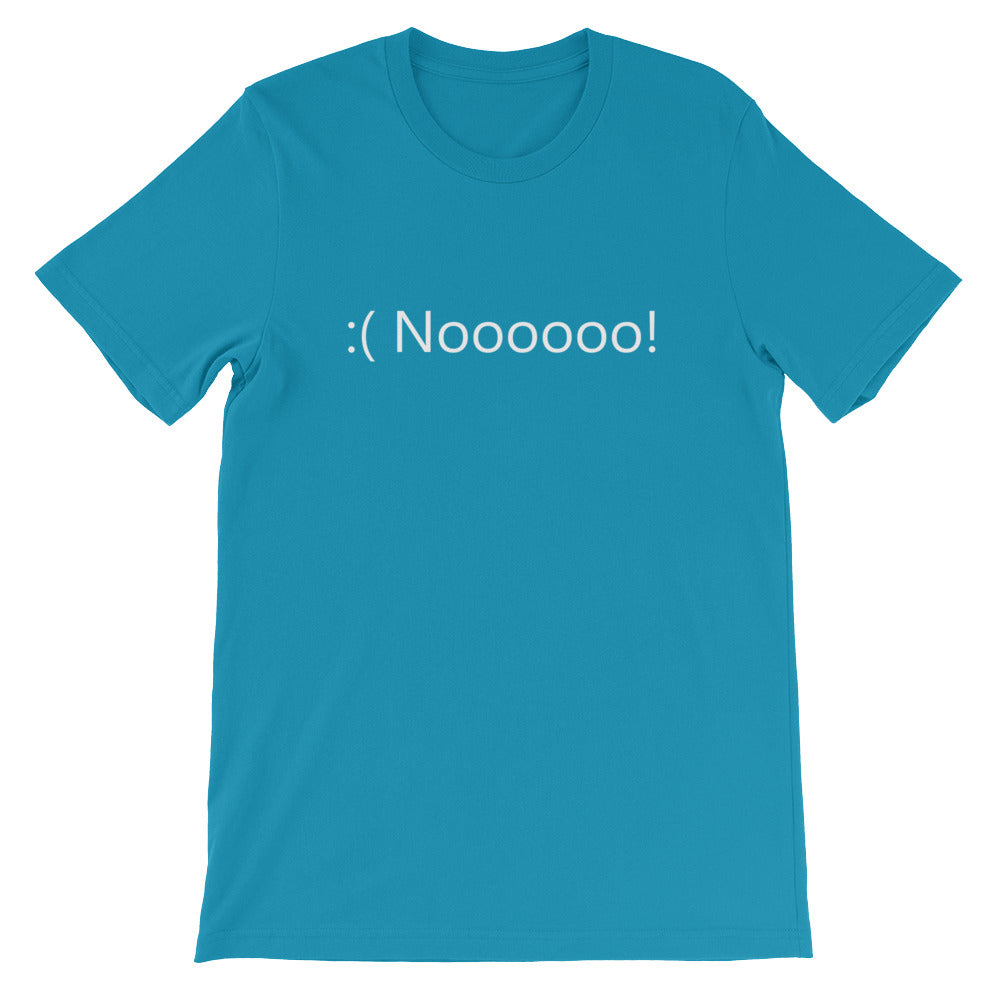 Noooooo! Blue Screen T-Shirt - Coder Swag