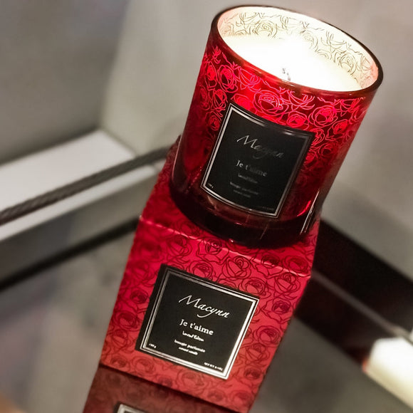 "Limited Edition ""Je t'aime"" Scented Candle"