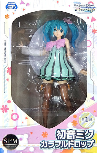 Hatsune Miku Project DIVA Arcade Future Tone Super Premium Figure Hatsune Miku - Colorful drop
