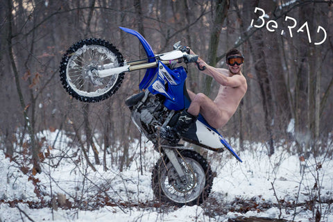 """Naked Snow Wheelie"" - 20x30in Poster"