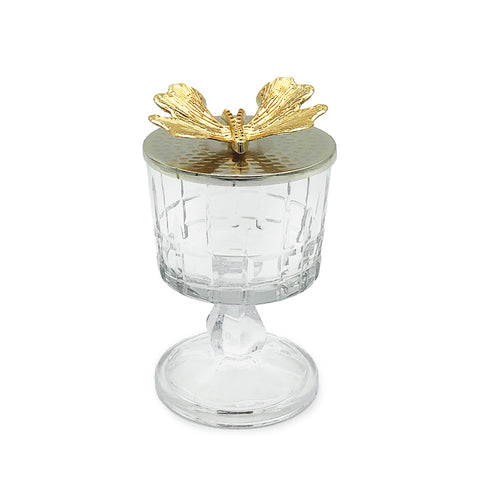 Butterfly Glass Canister