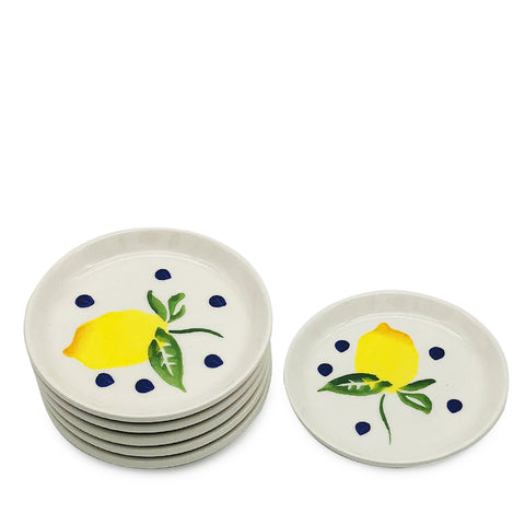 Blue Lemonade Appetiser Plates-Set of 6