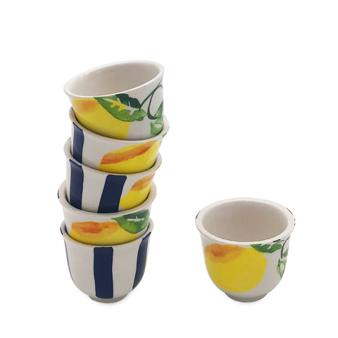 Blue Lemonade Arabic Coffee Cups-Set of 6